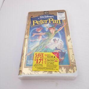 Peter Pan VHS 1998 45th Anniversary Ltd Edition Disney Masterpiece, New