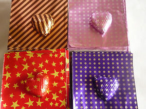 40-50 Foil Square Wrappers for Chocolate & Sweets.80mm x 80mm.Patterned Designs