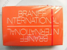 Vintage Braniff International Airlines Orange Playing Cards Unopened Mint