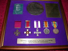 Replica VC Framed Group Hardy most decorated Chaplain