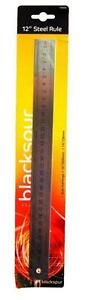 """12"""" Stainless Steel Metric & Imperial 30cm Architectural School Measuring Ruler"""