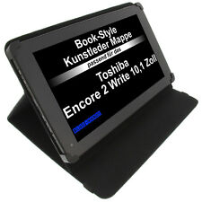 Funda para Toshiba Encore 2 Write Book Style protectora tableta Soporte Negro