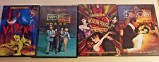4 DVD lot Moulin Rouge, Guys and Dolls, De-Lovely, Cirque Du Soleil Varekai
