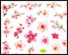 Lovely Pink & White Flower Stickers for Nails
