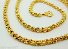 Gold Plated Necklace Jewelry 24 inch Chain 22K 23K 24K Thai Baht Yellow