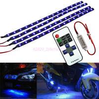 12V Wireless Blue LED Strip Kit For Boat Marine Car Interior Lighting 30cm 15LED
