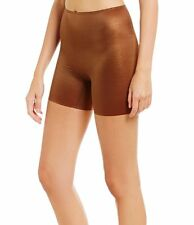 Spanx Skinny Britches Smoothing Girl Short Copper Sparkle Smooth Size Large