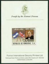 Honduras 1979 Rowland Hill 20c proof/PRESENTATION CARD