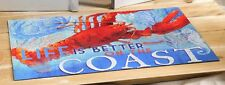 Lobster Nautical Door Mat Life Is Better On The Coast Rubber Backed 18 x 30 in