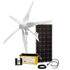 Kit híbrido controlador de carga solar Wind 100W/400W/12V W. & AGM Batería 165Ah