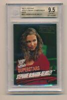 2001 Fleer WWF WWE Wrestlemania Championship Gold Stephanie McMahon RC BGS 9.5