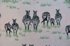 "JULIET TRAVERS VELVET FABRIC DESIGN ""Dazzle"" 2.1 METRES ZEBRA DESIGN"