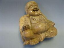 Holz  Buddha Lachender Buddha 20cm  Handarbeit