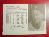 John Albert Schmitz Boston Red Sox 1940s Chicago Autograph Signed Photo