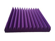 6 PCS Wedge With 12T Studio Sound-proof Acoustic Purple Foam