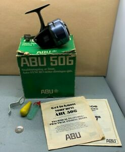 Lovely Vintage Old School Abu 506 Closed Face Fishing Reel Made In Sweden B40