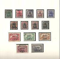 Allenstein, 1920 Michelnummern: 1 - 14 o, gestempelt o, Katalogwert € 70,00