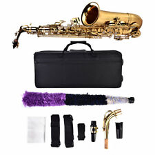 More details for sax brass golden eb sax suitable for adults and children for concert for prom