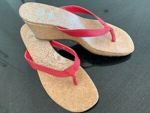 Timberland Heeled Flip flops Wedge Sandals Size 5.5 uk US 7.5M