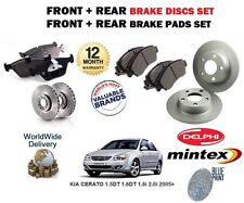 FOR KIA CERATO 2004> NEW FRONT + REAR BRAKE DISCS SET AND DISC PADS SET