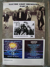 RARE ELECTRIC LIGHT ORCHESTRA PART II 1995 U.S TOUR POSTER B/W PROMO PHOTO ELO
