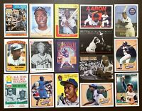 35) Different HANK AARON Mixed Baseball Card LOT