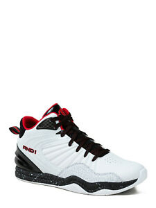 ***NEW MENS AND1 CAPITAL 4.0 WHITE RED BLACK ATHLETIC BASKETBALL SHOES SNEAKERS