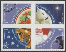 US 5247-5250 5250a Christmas Carols forever block set (4 stamps) MNH 2017