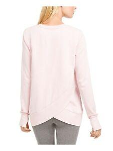 IDEOLOGY long sleeve fleece lined women's sweatshirt top - Pink - SMALL