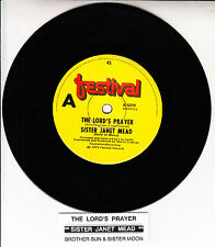 """SISTER JANET MEAD  The Lord's Prayer 7"""" 45 rpm record + juke box title strip NEW"""