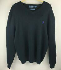 Polo Ralph Lauren men's Pima Cotton V-Neck Sweater XL Pullover Campus Black NWT