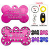 Engraved Dog ID Tags Bling Bone Shaped Pet Tag Personalised Name Free for Collar
