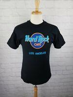 MINT! 1990's Hard Rock Cafe Los Angeles LARGE Black Vintage T-Shirt 90's L