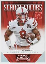 AMEER ABDULLAH 2015 Contenders Draft Picks School Colors #13 Cornhuskers