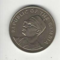 1975 Gambia 10 Dalasis-Independence-Silver, Uncirculated, Low Mintage!