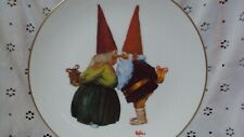 """Gnome Bliss Decorative Plate by Rein Poortvliet 8-3/4"""" Dated 1979"""