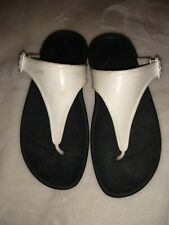 FitFlop Thong Sandals White Wobbleboard Women's Size 5M