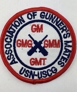 Vintage US NAVY Association Of Gunner's Mates MILITARY PATCH USN-USCG