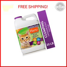 New listing Hartz Multi-Cat Strong Lavender Scent Clumping Cat Litter, 20-lb