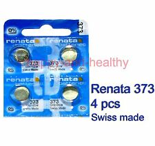 Renata SR916SW 373 Silver Oxide button Battery x 4 pcs Swiss Made FREE Post