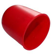 Cache boule rotule d'attelage remorque en plastique pour auto voiture rouge