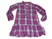 TCM tolles Kleid / Longshirt Gr. 110 / 116 rosa-lila kariert !!