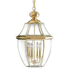 "Quoizel NY1180 Newbury 4 Light 16""W Outdoor Pendant Lantern - Brass"