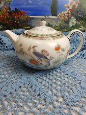 Wedgewood Kutani Crane R4464  Large Teapot  Brown Trim