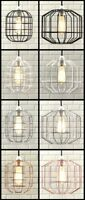 INDUSTRIAL STYLE RETRO CEILING PENDANT CAGE LIGHT LAMP SHADE METAL EASY FIT