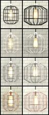 INDUSTRIAL CAGE STYLE RETRO CEILING PENDANT LIGHT / LAMP SHADE METAL EASY FIT