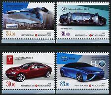 Kirgisien Kyrgyzstan 2015 Autos Automobile der Zukunft Cars Mercedes Tesla MNH