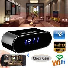 1080P HD WIFI Espion Caché Réveil Sans Fil Spy IP Caméra Horloge Vision Nuit DVR