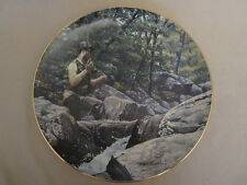 HOOKED - FLYFISHING collector plate MARK SUSINNO Fishing TROUT