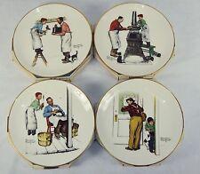 "Norman Rockwell Plates ~ 1979 Set of 4 ""Four Seasons"" ~ Fine GORHAM China"